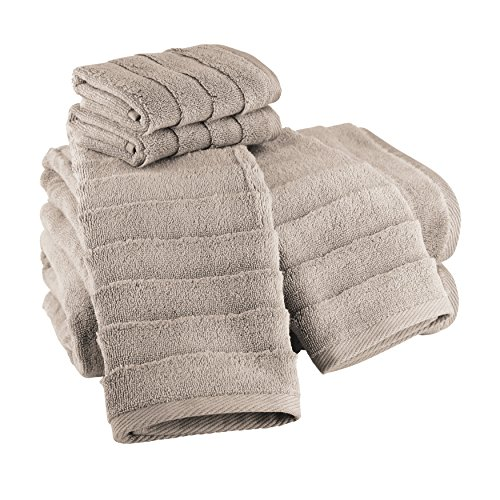 UPC 888807916201, Luxor Linens Carmelina 100% Extra Long Staple Turkish Cotton 600 GSM Luxury Solid Towel Sets - Soft, Durable, Plush, Absorbent & Quick Drying - 8 Colors Available - Made in Turkey - Chanterelle