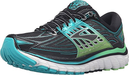 834dd405e9 Galleon - Brooks Women's Glycerin 14 Black/Viridian Green/Silver Sneaker 8  B (M)