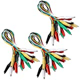 Elegoo 30 PCS Test Leads Set with Alligator Clips Double-end 50cm Jumper Wire