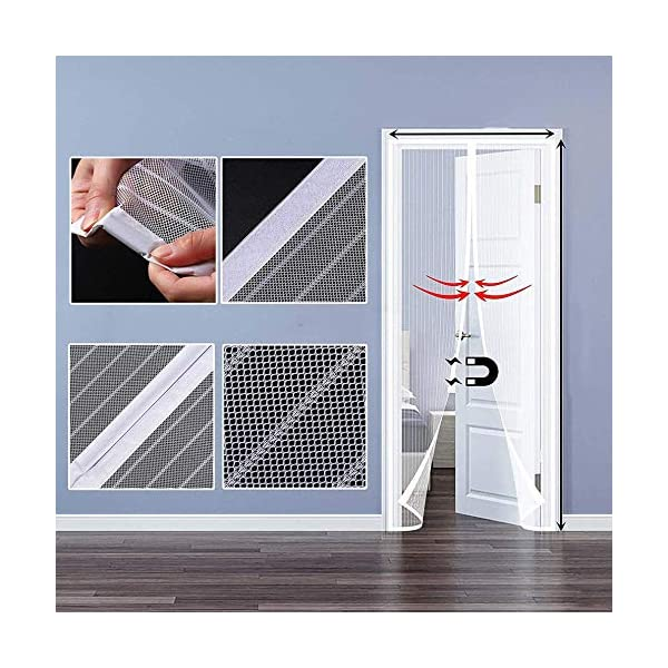 RSIOSL Zanzariera Magnetica per Finestre, Zanzariere per Finestre Ultra Silenzioso Chiudi Automaticamente per Casa… 5 spesavip