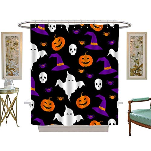 Shower Curtain Happy halloween abstract seamless pattern background