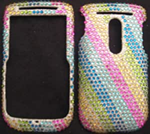 Htc Snap S522, Dash 3G Cover Faceplate Face Plate Housing Snap on Snapon Protective Hard Case Shield FULL Diamonds Jewel Rhinestone Bling Rainbow Colors
