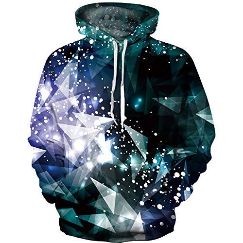 luyusbaby Unisex 3D Digital Print Sweatshirts Galaxy Pullover Kids Pocket Hooded -