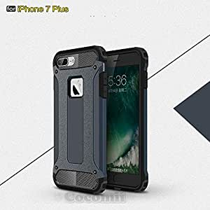 Cocomii Commando Armor iPhone 8 Plus/7 Plus Case New [Heavy Duty] Premium Tactical Grip Dustproof Shockproof Bumper [Military Defender] Full Body Cover for Apple iPhone 8 Plus/7 Plus (C.Metal Slate)