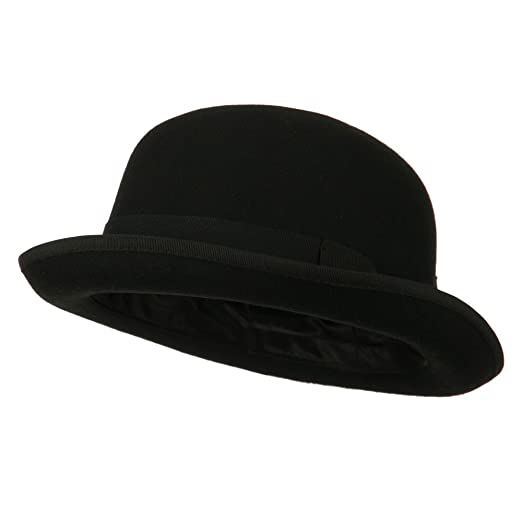 0a2aa94842b Jeanne Simmons Men s Felt Bowler Hat with Ribbon Trim at Amazon ...