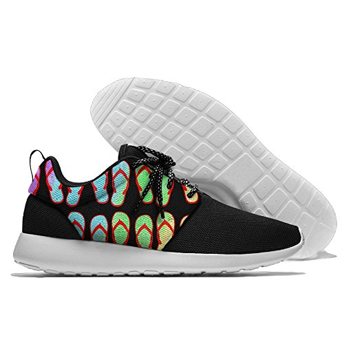 Colorful Flip Flop Pattern Womens Mens Running Shoes Fashion Sneakers Casual Sports Shoes 41 Lightweight Breathable by MIRTI