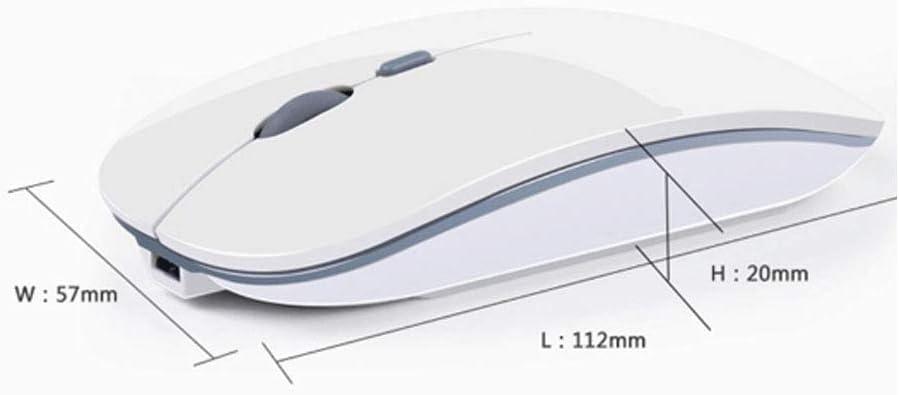 Artificial Flower Wireless Mouse,Rechargeable Wireless Mouse,2.4G Slim Mute Silent Click Noiseless Ergonomic Mouse Portable Travel Cordless Mouse USB Compatible PC Laptop,A Computer