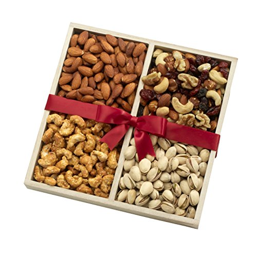 Nuts Gift Basket With Gourmet Assortment of Fresh Nuts for Any Occasion – A Healthy Gift Option