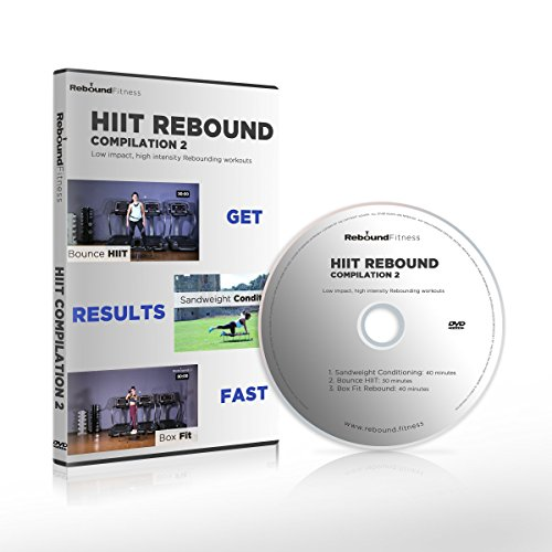 HIIT Rebound Compilation 2 DVD containing 3 high energy Mini Trampoline Workouts that will take your fitness to the next level, Burn Fat, get you into Great Shape FAST! Claim 15% cash back on all our by MXL MaXimus Life
