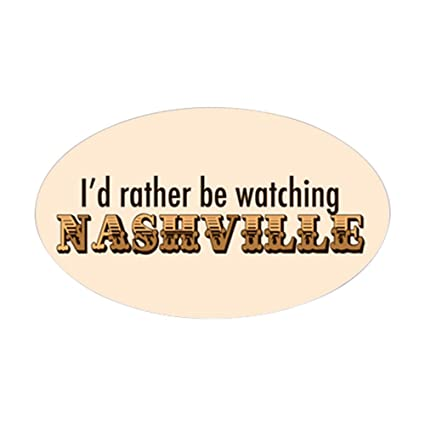 Amazon Com Cafepress Nashville Tv Sticker Oval Oval Bumper