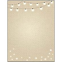 Lights Theme Stationery - 8.5 x 11-60 Letterhead Sheets - String of Lights Letterhead (String Lights)