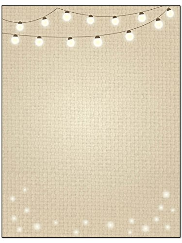 Lights Theme Stationery - 8.5 x 11-60 Letterhead Sheets - String of Lights Letterhead (String Lights) by Stonehouse Collection