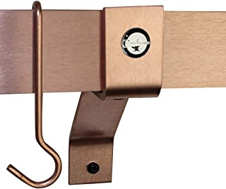 "product image for Handcrafted 4"" Wall Brackets For Roll End Bar (Set of 2) Brushed Copper"