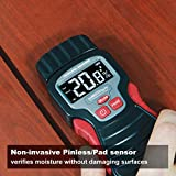 Calculated Industries 7445 AccuMASTER Duo Pro Pin & Pinless Moisture Meter Detects Hidden Leaks and Moisture | Combo Non-invasive Pad + Pin Sensors | for Restoration Contractors, Woodworkers, DIYs