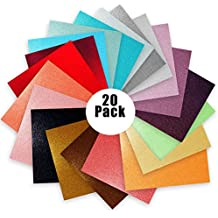 "Glitter Vinyl Self Adhesive Vinyl Sheets 6"" x 6"" 