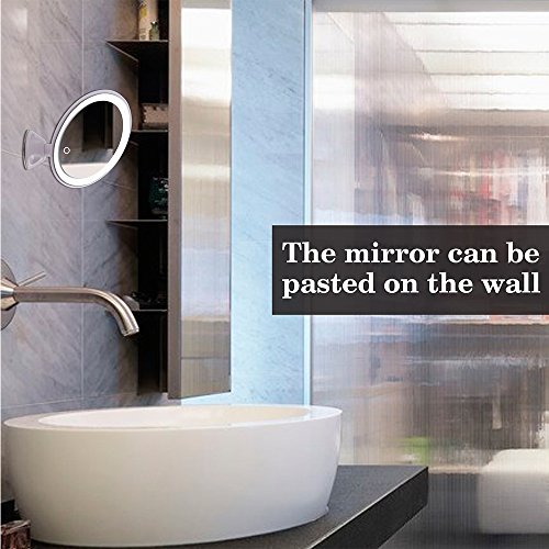 hailicare 7x magnifying led lighted vanity mirror with suction base 11street malaysia floor. Black Bedroom Furniture Sets. Home Design Ideas