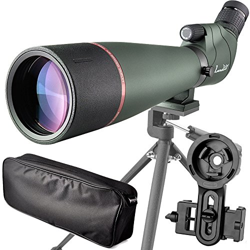 20-60X 80 Prism Spotting Scope- Waterproof Scope for Birdwatching Target Shooting Archery Outdoor Activities -with Tripod & Digiscoping Adapter-Get The Beauty into Screen (20-60x80 Spotting Scope) (Best Scope For 600 Yards)