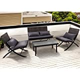 amazon com grey wicker chairs patio seating patio lawn garden