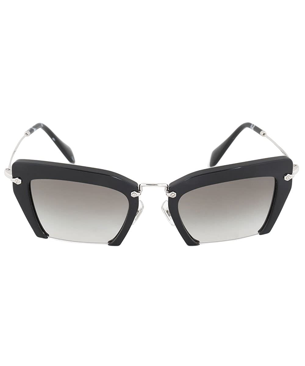 b03f4b9f5438 Miu Miu 1AB-0A7 Black 10QS Rasoir Cats Eyes Sunglasses Lens Category 2 at  Amazon Men s Clothing store