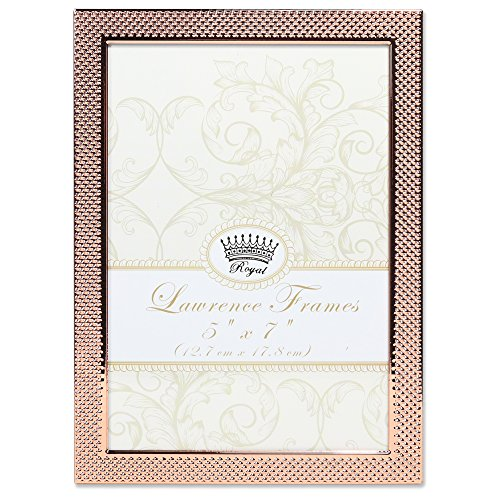 Lawrence Frames Lawrence Royal Designs 5x7 Fawn Pin Dot Pattern Copper Picture Frame ()