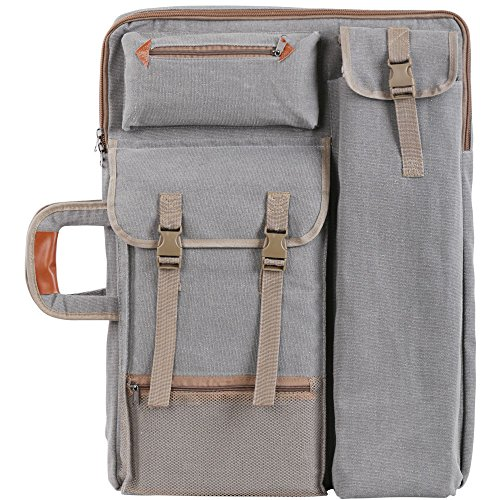 Tanchen 4K Canvas Artist Portfolio Carry Shoulder Bag Multifunctional Drawboard Bags for Drawing Sketching Painting (Gray) by Tanchen