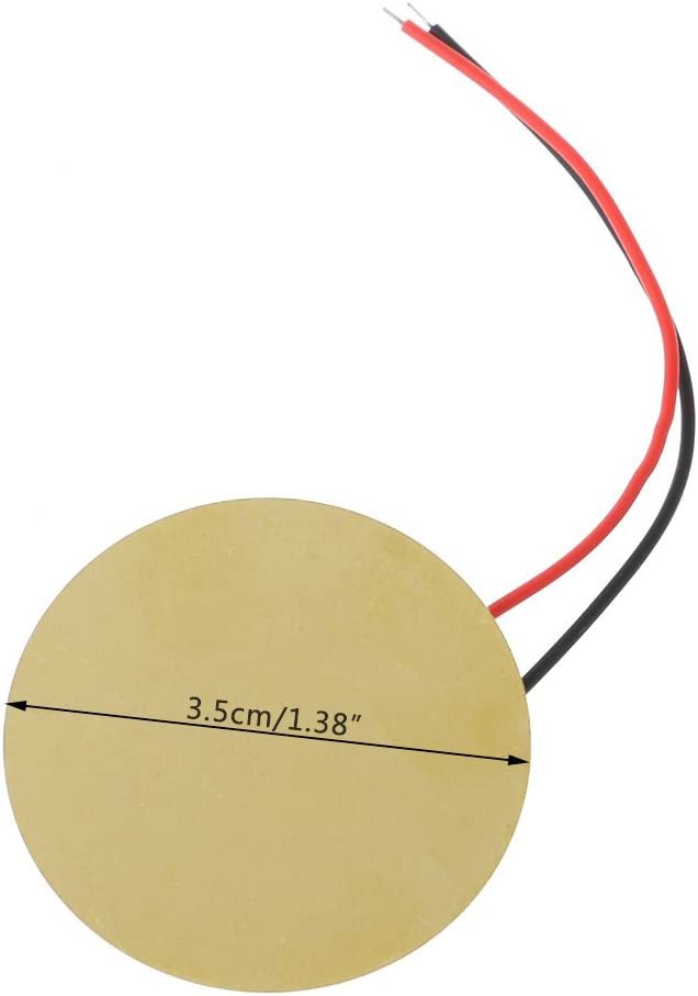 7haofang10pcs 35mm Piezo Elements Buzzer Sounder Sensor Trigger Drum Disc Wire Copper