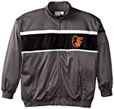 MLB Baltimore Orioles Men's Track Jacket, 3X-Large Tall, Charcoal/Black