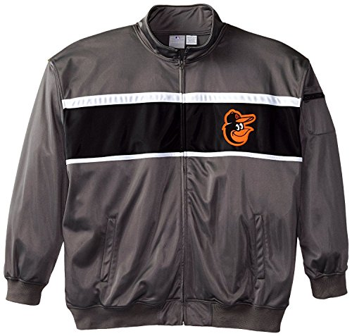 Baltimore Jackets Orioles Mens (MLB Baltimore Orioles Men's Track Jacket, 3X-Large Tall, Charcoal/Black)