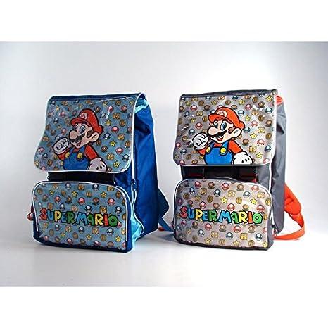 dc207b40c Super Mario Zaino Game estensibile elementare materna scuola Rosso o  Azzurro come disponibile