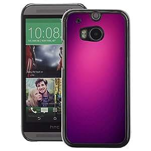 A-type Arte & diseño plástico duro Fundas Cover Cubre Hard Case Cover para HTC One M8 (Purple Light Black Color Clean Plum)