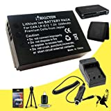 Halcyon 2200 mAH Lithium Ion Replacement Battery and Charger Kit + Memory Card Wallet + SDHC Card USB Reader + Deluxe Starter Kit for Canon EOS M, Canon Rebel SL1 Digital SLR Cameras and Canon LP-E12