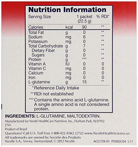 Glutasolve Glutamine Powder Unflavored 0.79 oz Packet 56 Pack