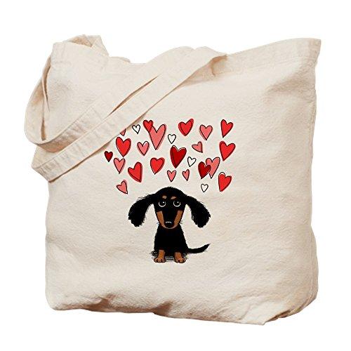 CafePress diseño de perro salchicha–Gamuza de bolsa de lona bolsa, bolsa de la compra Small caqui