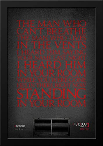 Amazon Com Insidious Chapter 3 28x36 Large Black Wood Framed Movie Poster Art Print Posters Prints