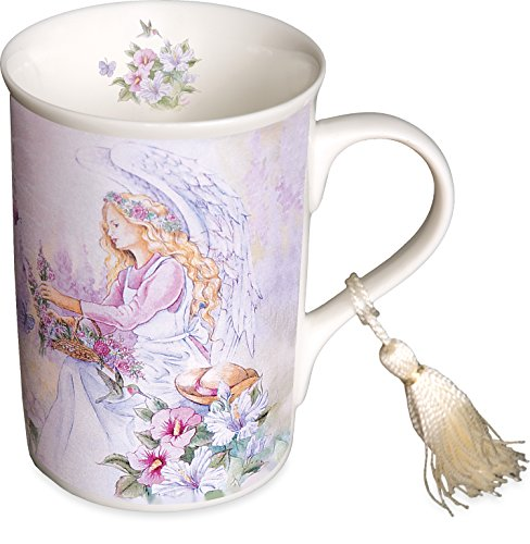 - AngelStar Butterflies Design Porcelain Mug, 4-1/2-Inch Tall