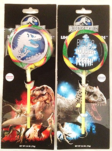 (Jurassic World Universal Studious Exclusive Lollipop w/sticker Set of 2)