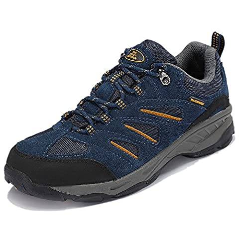 The First Outdoor Men's Waterproof & Breathable Sapphire Blue Hiking Shoe Trail Sneaker Summer Climbing Mountain Shoes, US 8.5