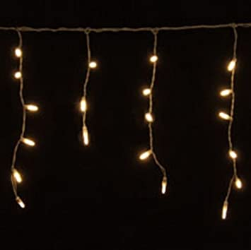 Amazon.com: 70 Warm White LED Icicle Lights, White Wire: Home ...