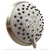 Vida Alegría 5-Inch Spashower 5+ High Pressure 2.5GPM Shower Head 5 Sprays + Water-Saver (Brushed Nickel)