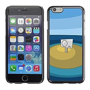 Apple (5.5 inches!!!) iPhone 6+ Plus / 6S+ Plus - Metal de aluminio y de plástico duro Caja del teléfono - Negro - You Are Here