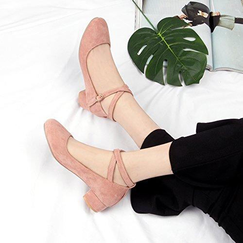 La Hadas En Y Primavera Cabeza Estudiantes Solteras En ROSA Mujeres Zapatos Zapatos Zapatos Negrita Salvajes Con Redonda Las Con Grandma GAOLIM HqwAtTxIq