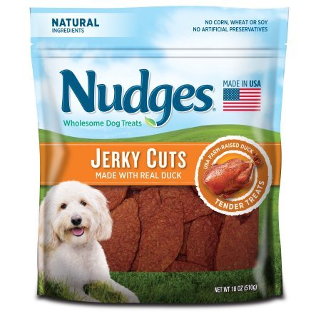 4 Pack of Nudges Duck Jerky Dog Treats, 18 oz by Tyson Pet Products