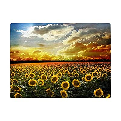 Personalized Jigsaw Puzzles, Rectangle Sunset Sunflower Field Puzzles Printed Photo Art Jigsaw Puzzle for Adults Mom Dad Boys Girls Friends Birthday Present A3 Size 252 Pieces: Toys & Games