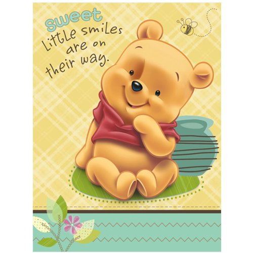 Baby Pooh and Friends Baby Shower Invitations (8 ()