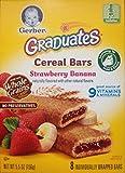 Gerber Graduates Cereal Bars STRAWBERRY BANANA - 5.5oz. (Pack of 9)