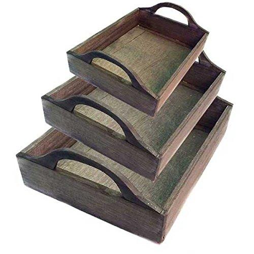 Wooden Baskets Group Of 3 (Set of 10)(30 Baskets) by suppliesforgiftbasket
