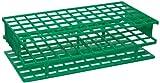 Nalgene 5976-0416 Polypropylene Unwire Test Tube Rack for 16mm Test Tubes, Green