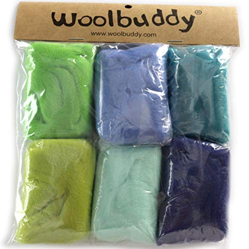 Woolbuddy Needle Felting Wool Roving Spring Color, Beautiful Felting Wool, Instruction Teach You How to Mix Color- Great for Arts & Crafts & Easy for Beginners (Spring)