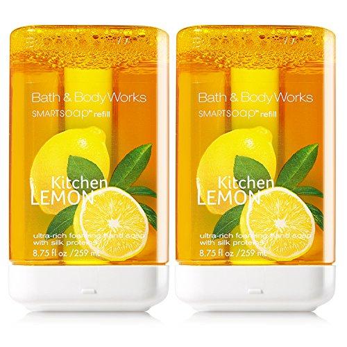 Kitchen Lemon SmartSoap Refills - Pair of TWO (2) Bath & Body Works Ultra-Rich Foaming Smart Soap Hand Soap Dispenser Refills (8.75 fl oz each) ()