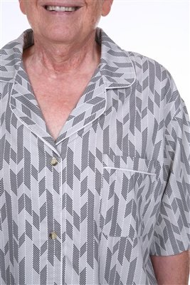 DIGNITY PAJAMAS 3-Pack Mens Cotton Adaptive Open Back Hospice Patient Gown Sleepwear - Set of 3 (S/M) by Dignity Pajamas (Image #4)
